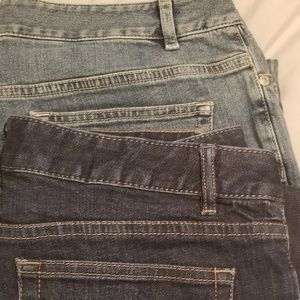 2 pair J. Jill Jeans, size 10 and 12